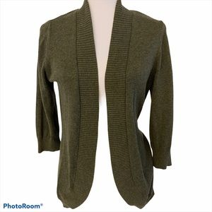 89th & Madison Cocoon Cardigan Olive Green Large